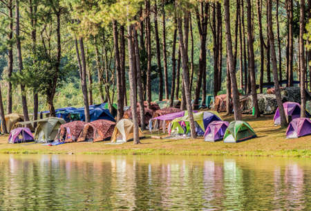 het reservoir bij Mahongson in Thailand Stockfoto