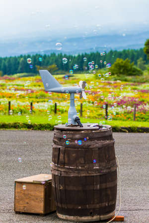 the bubble in public park Stock Photo