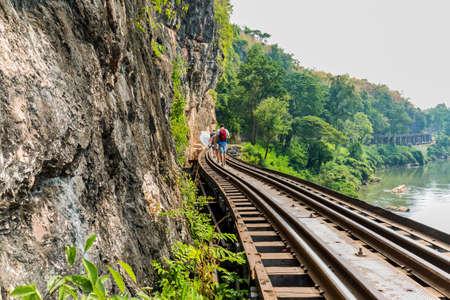 railway in kanchanaburi of thailand