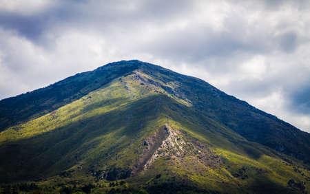 landscape between on the wat to journey in Sicily Stok Fotoğraf