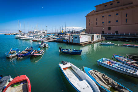 the port of Bari in Italy