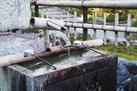 wells: Traditional water wells in Japan Stock Photo