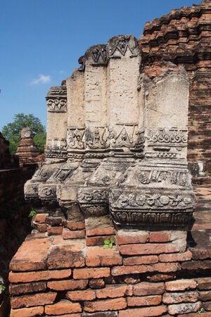 archaeological site: Relief art at the archaeological site in Thailand Stock Photo