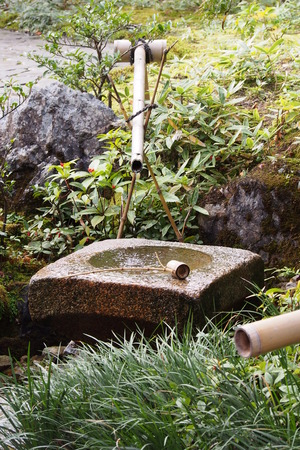 water feature: Water feature in Japanese garden