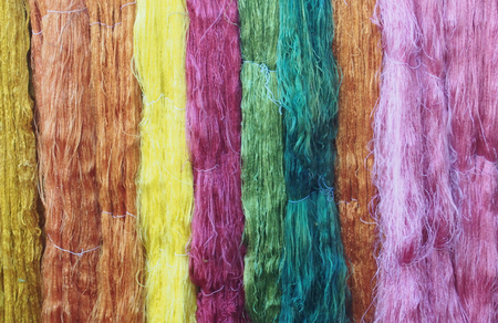 pack string: Colorful silk thread