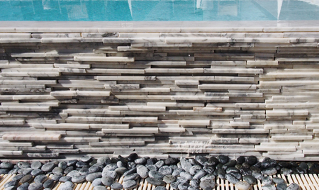 Linear marble stacking wall texture