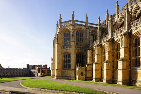 architrave: Historical building of England  with garden in front