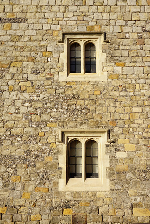 architrave: Exterior of Anciant stone wall and windows