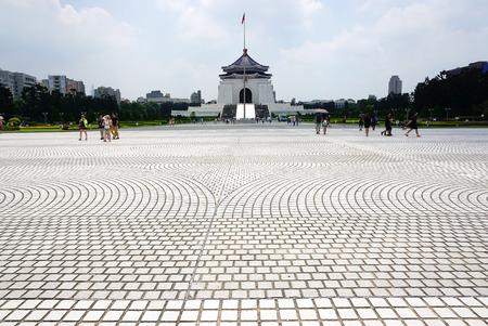 chiang kai shek memorial hall: The photo of the landmark building Chiang Kai Shek memorial hall in Teipei, Taiwan in August,2015