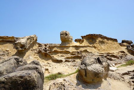 travel features: geography features in Yehliu Geopark, Taiwan