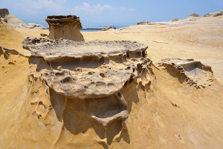 geography: geography features in Yehliu Geopark, Taiwan