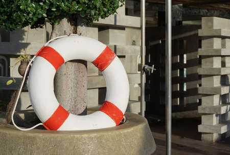 life preserver: life preserver on the plant pot with sunlight