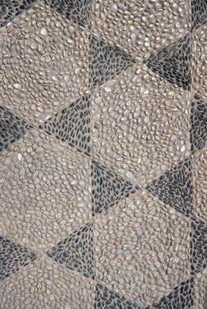 piso piedra: patrón de diseño de piso de piedra Textura de la grava