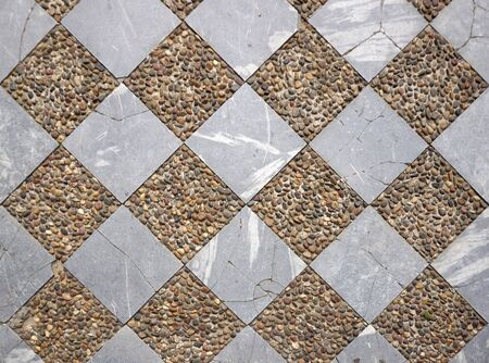 checker: Marble and gravel checker board pattern floor texture