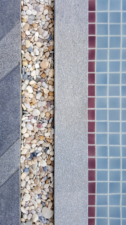 washed: stone washed, tiles and gravel floor texture