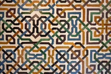 moors: Moors style colorful mosiac tile wall  texture