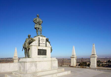 5 december: Toledo, Spain - 5 December,2015 : The monument at the terrace of Alcazar in Todelo, Spain on 5 December 2015 in Toledo, Spain