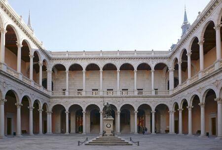 5 december: Toledo, Spain - 5 December,2015 : Internal court of Alcazar in Toledo, Spain