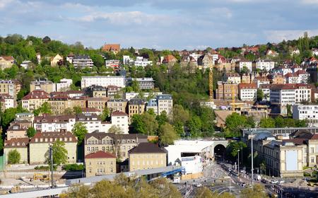 elevation: European building at Stuttgart city elevation view