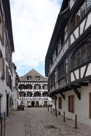 strasbourg: Strasbourg, France - 3 May,2016 :Beautiful building in old town of Strasbourg on 3 May 2016 in Strasbourg, France Editorial
