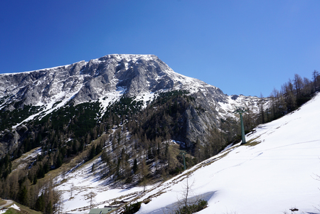 sierra: Snow mountain on the way to Mount Janner peak in Berchtesgaden, Germany