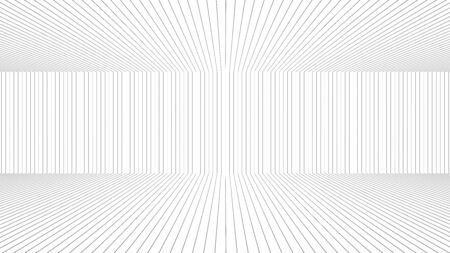 elevation: black line with white background in perspective from computer programme