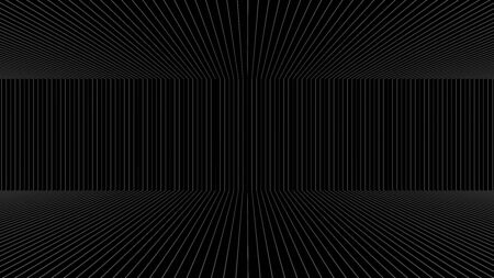 elevate: white line with black background in perspective from computer programme