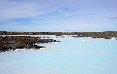 blue lagoon: Beautiful  blue water lake at blue lagoon in Iceland