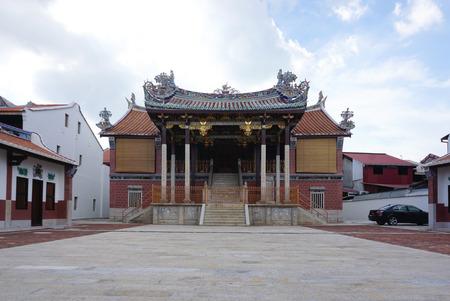 George Town, Maleisië - 3 juni, 2017: Mooie Boon San Tong Khoo Kongsi, in George Town, Penang op 3 juni 2017 in George Town, Maleisië Redactioneel