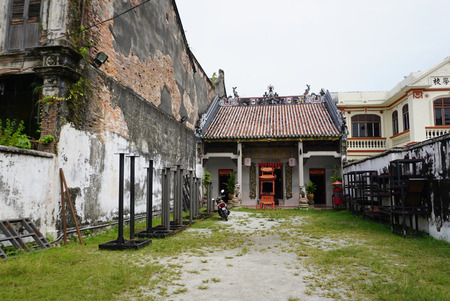 George Town, Malaysia - 4 June ,2017 : Loo Pun Hong the old Chinese temple on the love lane street in old town of George Town, Penang on 4 June 2017 in George Town, Malaysia