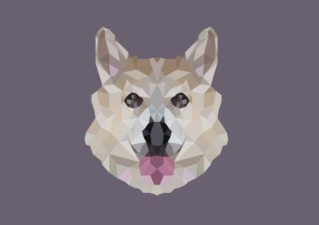 Dog head low poly vector graphic