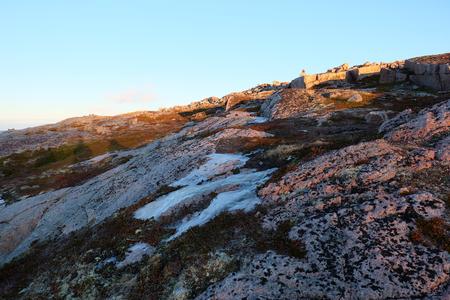 Tundra landscape at Barents Sea in Teriberka , Murmansk, Russia