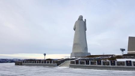 Murmansk, Russia - 3 November,2017 : Alyosha Monument ,Defenders of the Soviet Arctic the iconic landmark of Murmansk on 3 November 2017  in Murmansk, Russia
