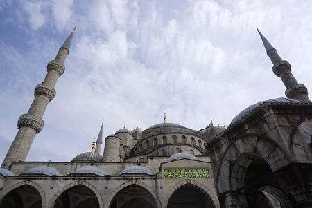 Istanbul, Turkey - 13 April ,2019 : Beautiful architecture of the Blue mosque the landmark of Istanbul on 13 April ,2019 in Istanbul, Turkey
