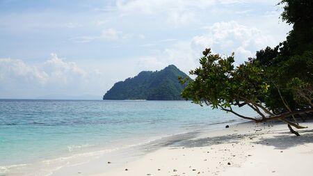 Beautiful crystal clear water of Nyaung Oo Phee island in Andaman sea the nature of Myanmar