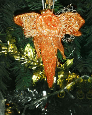 Christmas tree decorations for celebrate Xmas party and any festive celebration such as birthday, new year Stok Fotoğraf