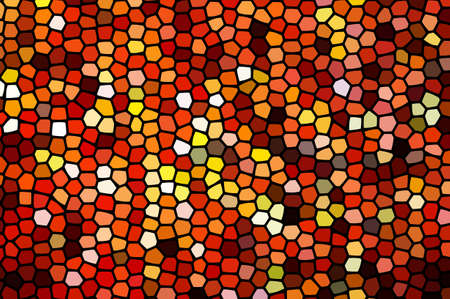 Abstract stained glass, geometrical multicolored background consisting of bright hexagon elements