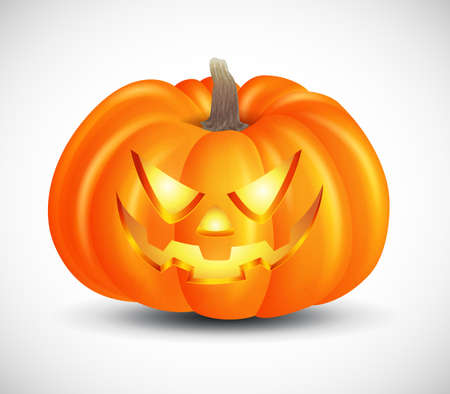 Scary pumpkins isolated on white background. suitable for halloween background, poster, banner and flyer