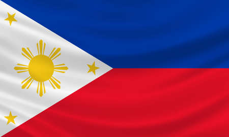 Philippines flag waving in the wind