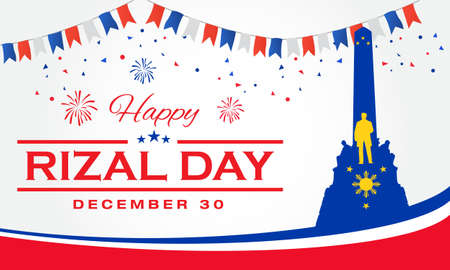 Happy Rizal Day greeting card. vector illustration for greeting card, poster and banner