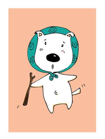 Illustration Pose cute dogs. Illustration