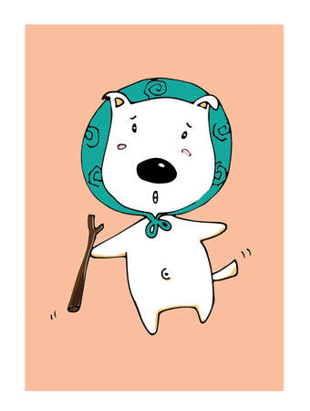 dog ears: Illustration Pose cute dogs. Illustration