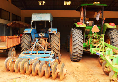 Garage used in agriculture this summer 版權商用圖片