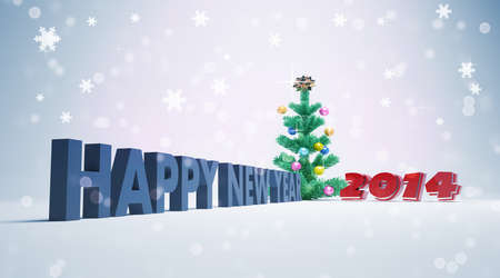 Greeting cards for  happy new year 2014 photo