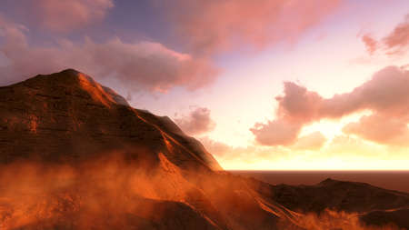 3D for the grand canyon national park in sunset and Mars 版權商用圖片