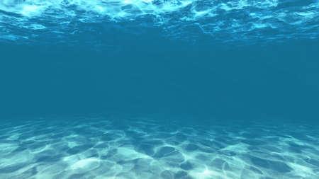 lichtblauw onder water met zand textuur Stockfoto