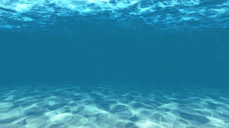 light blue under water with Sand texture Imagens