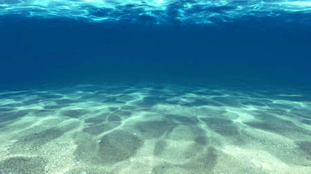 Surface of the sand under water in the sea.