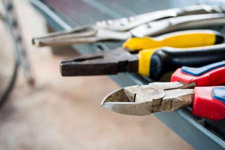 Steel pliers multi type for technicians.