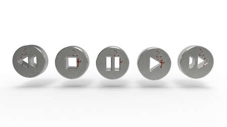 illustration media concept of music player button